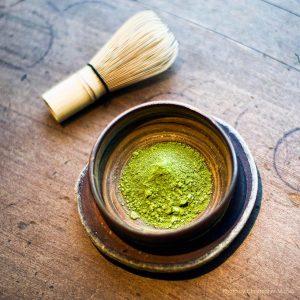 Matcha powder. Samovar Tea House, photo by Christopher Michel