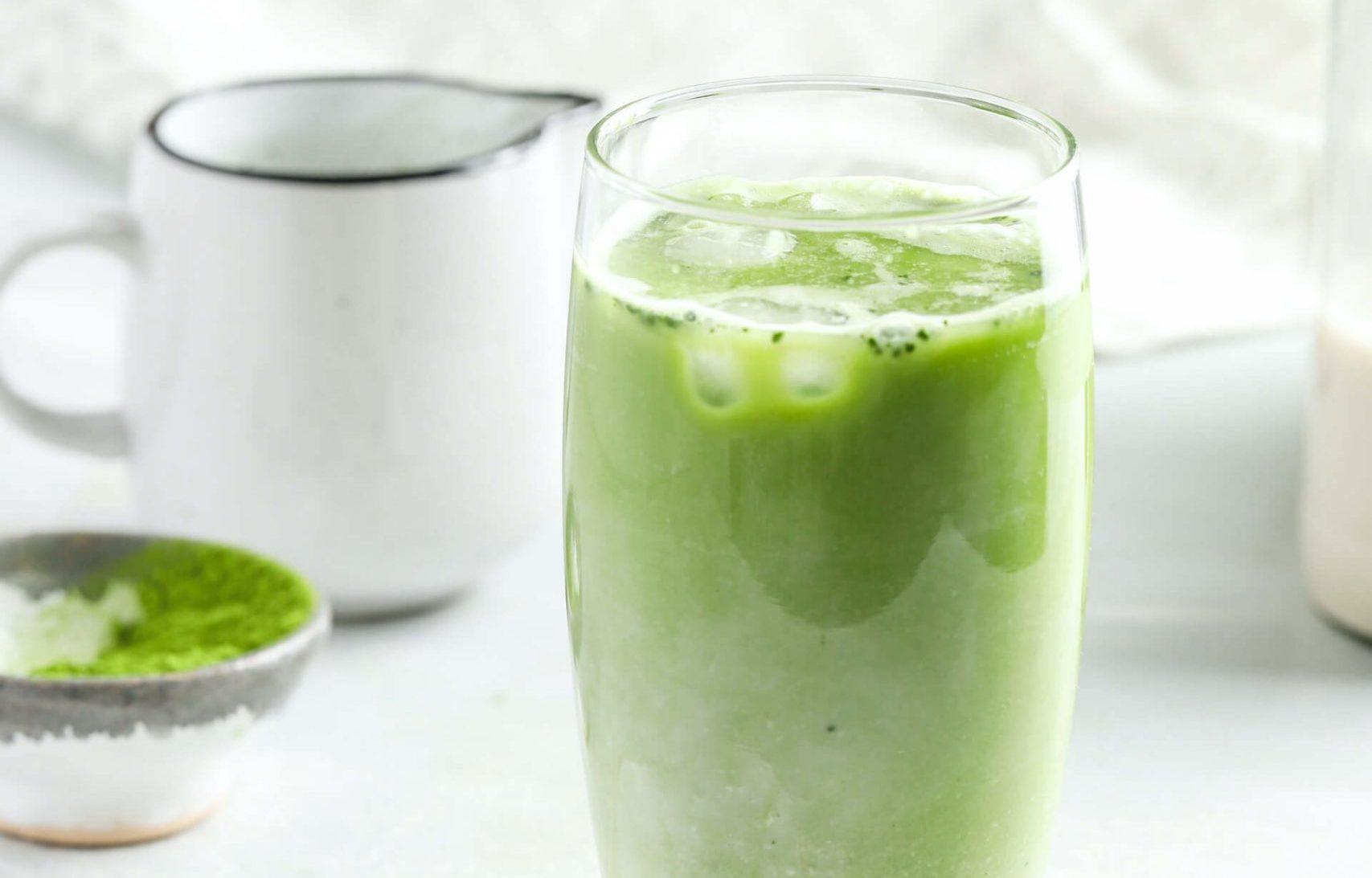 batido de coco y te verde