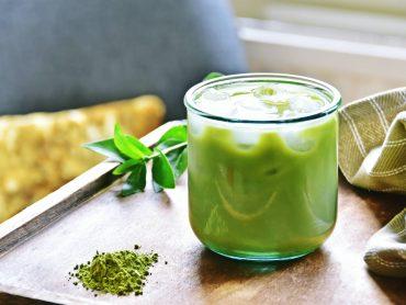 bebida de té verde