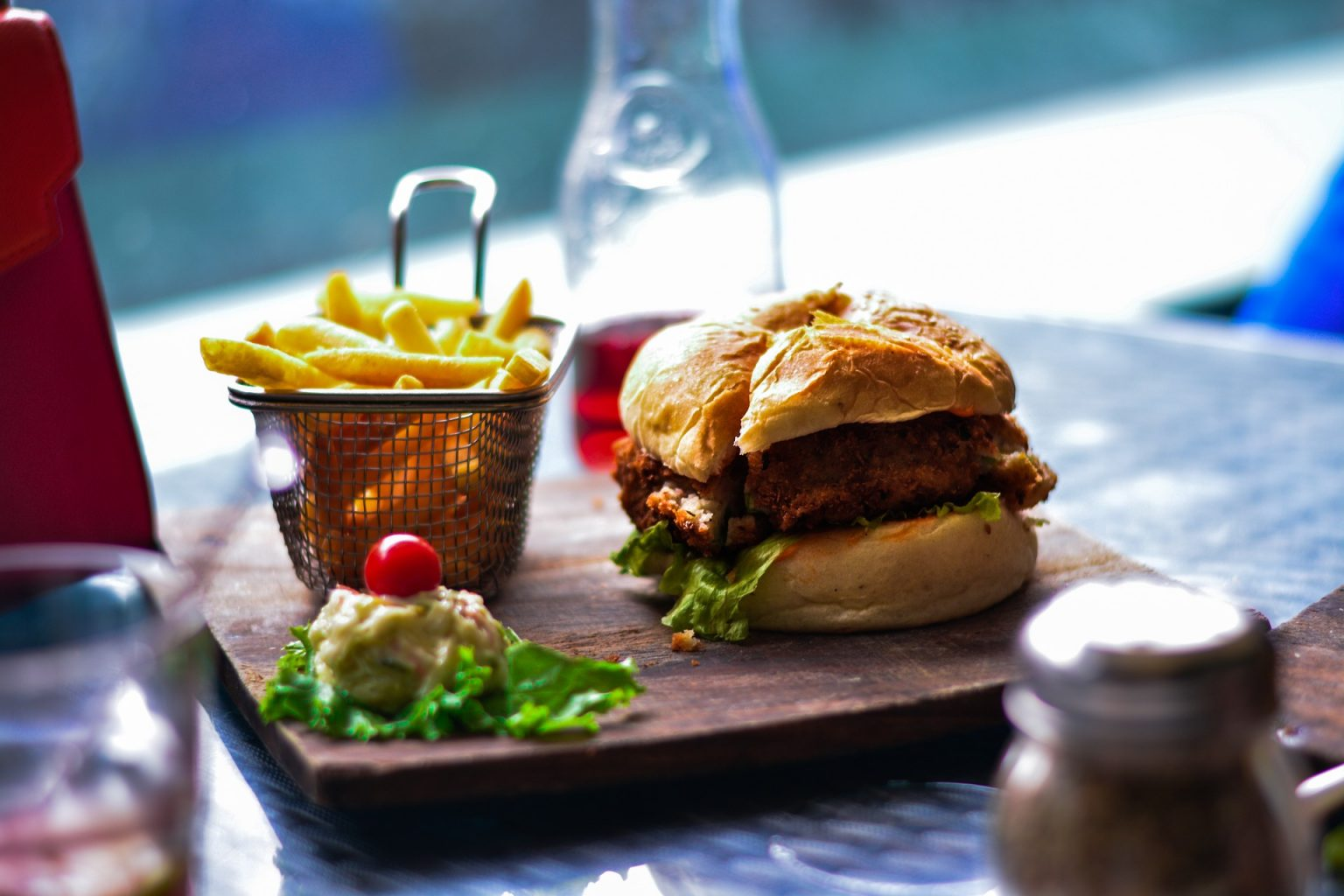 Fries, burger and soda. Standard American Diet