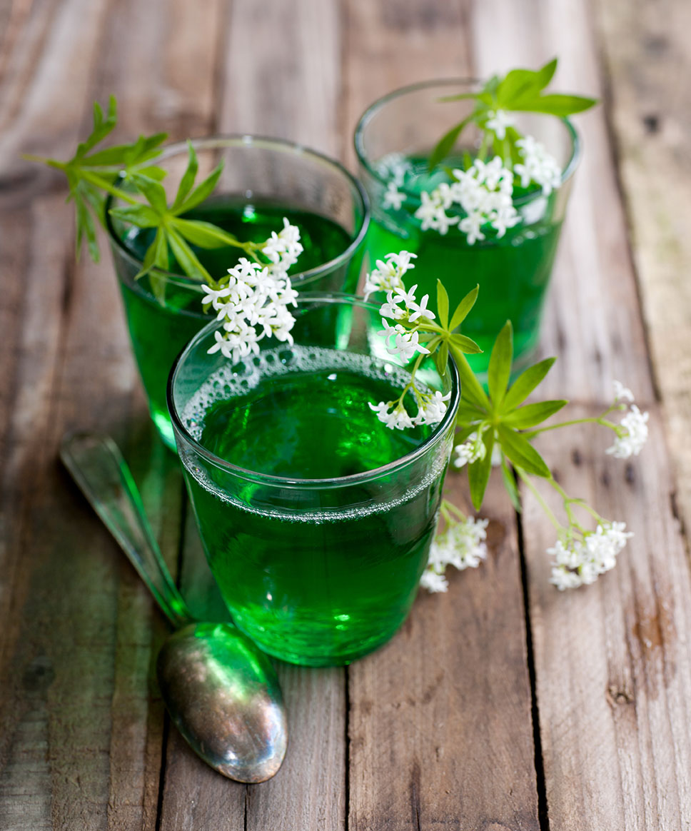 Green tea Jello in a cup