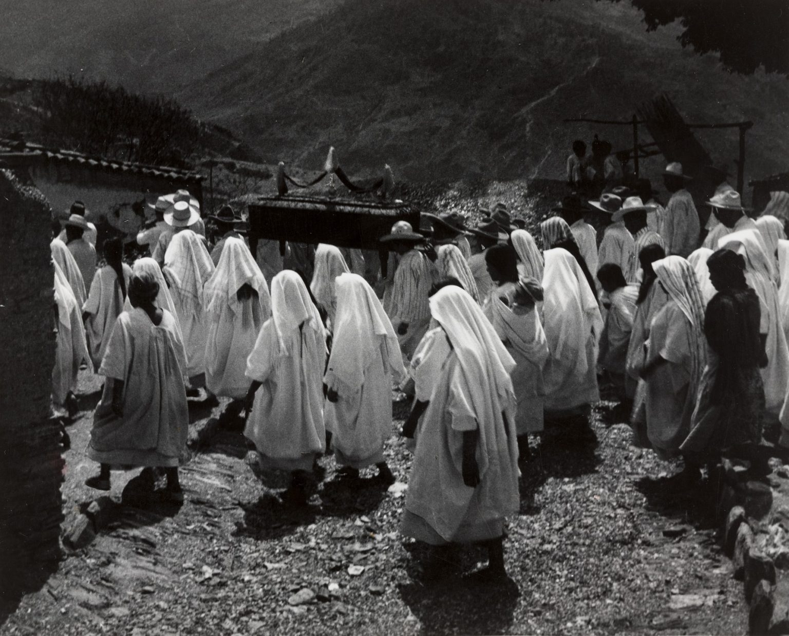 Old photo of a grief procession