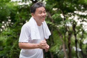 elder man runing