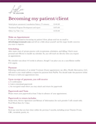 What is the process of Becoming my Patient
