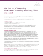 The process of Becoming, My Career Counseling Couching Client