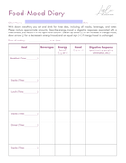 The Food Mood Diary - Fillable Version