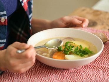 vegetable broth bowl