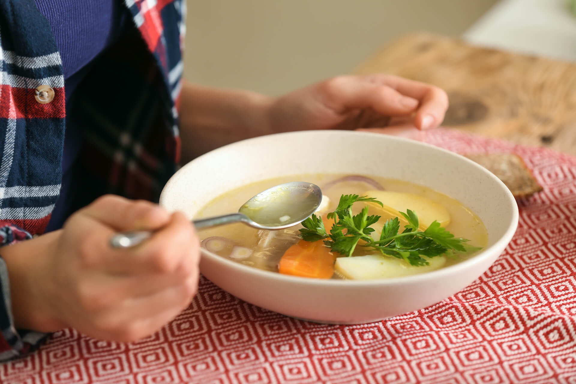 vegetable broth bowl