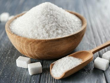 Sugar and its relation to mood disorders- Bowl full of sugar